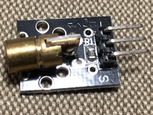 [Arduino] KY-008 レーザー送信モジュール – 37 in 1 Sensors kit for Arduino
